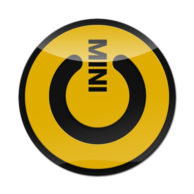 GoBadges LC0036 Mini Cooper Magnetic 3D Badge - Mini Power -Yellow