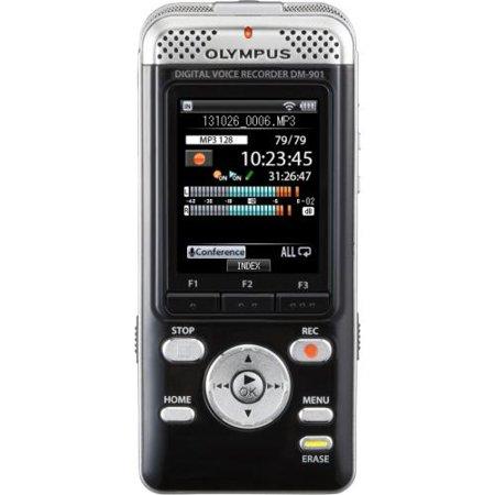 "Olympus V407141BU000 Olympus DM-901 4GB Digital Voice Recorder 4 GB Flash Memory 2"" LCD Headphone 850... by"
