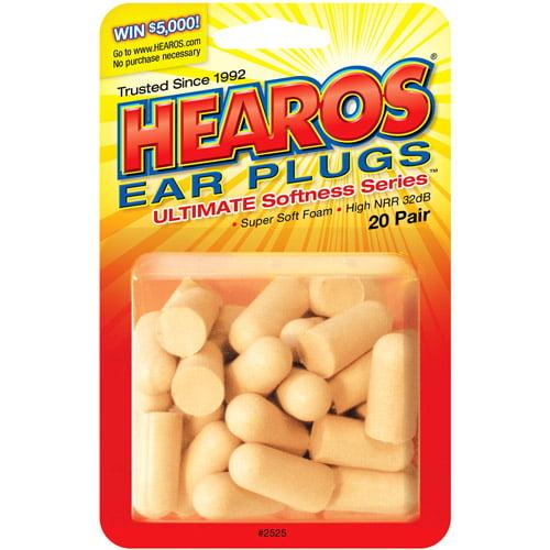 HEAROS Ultimate Ear Plugs: 40 count