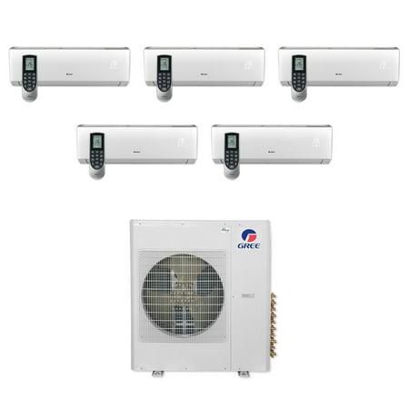 Gree MULTI36CVIR500 - 36,000 BTU Multi21+ Penta-Zone Wall Mount Mini Split Air Conditioner Heat Pump 208-230V
