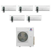 Gree MULTI36CVIR500 - 36,000 BTU Multi21+ Penta-Zone Wall Mount Mini Split Air Conditioner Heat Pump 208-230V (9-9-9-9-9