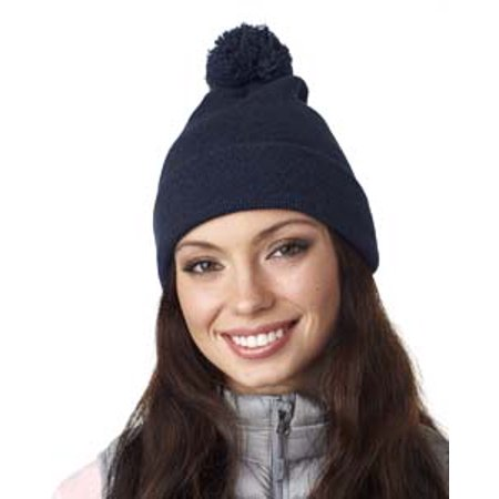 UltraClub Adult Knit Pom-Pom Beanie with Cuff ()