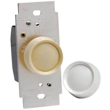 Leviton C40-06681-0IW Electro Mechanical Preset Rotary Dimmer, 120 VAC, 600 W, 1 P, 3 Way,