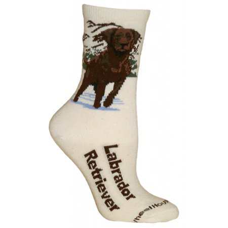 Course Ladies Cotton Naturals (Chocolate Lab Natural Color Cotton Ladies Socks )