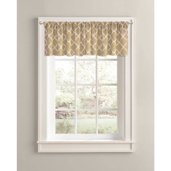 Better homes and gardens trellis valance 60 x 14 rod Better homes and gardens valances for small windows