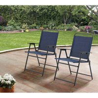 2 Pack Mainstays Pleasant Grove Sling Folding Chairs
