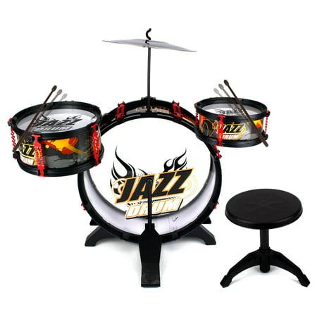 fantastic jazz band 4 piece children 39 s kid 39 s musical instrument drum play set w 3 drums cymbal. Black Bedroom Furniture Sets. Home Design Ideas