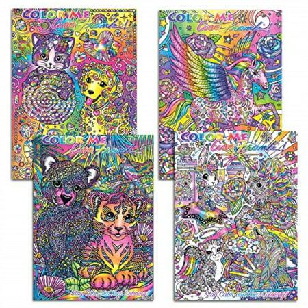 Lisa Frank Adult Coloring Book Set -- 4 Premium Lisa Frank Coloring and Activity Books for Adults ()