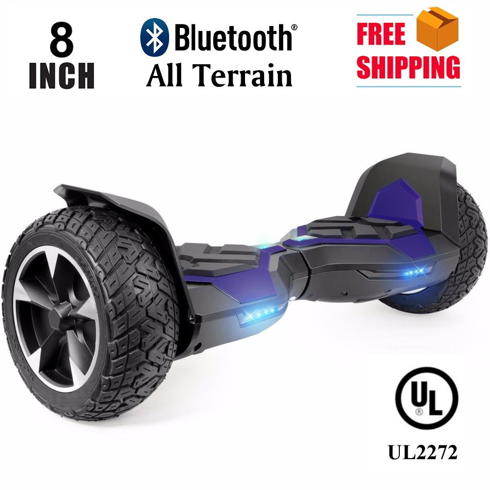 "Hoverboard 8"" Hummer Auto Self Balancing Wheel Electric Scooter with Built-In Bluetooth Speaker Blue by"