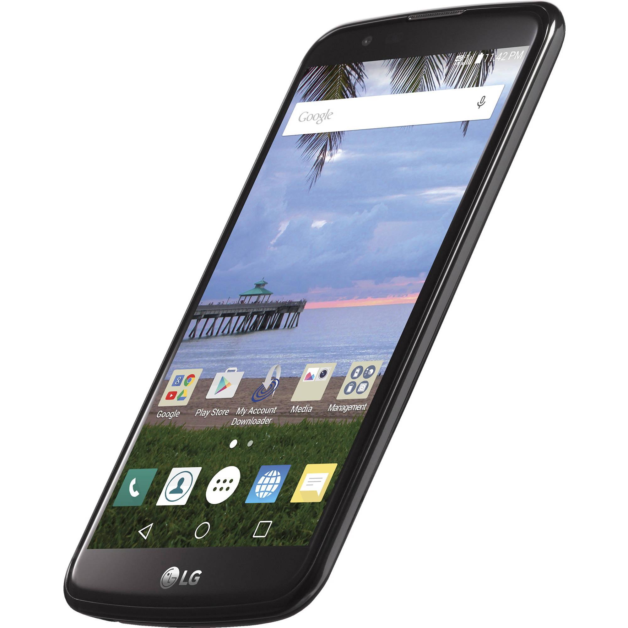 Total Wireless LG Premier 8GB Prepaid Smartphone, Black