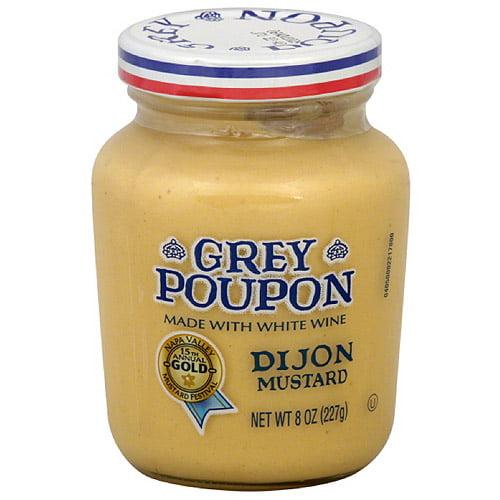 Grey Poupon Dijon Mustard, 8 oz (Pack of 12)
