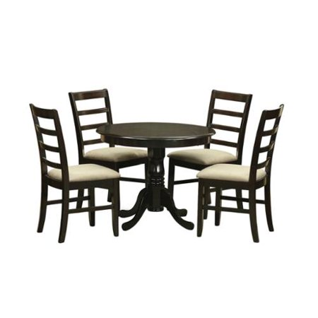 5-Piece Kitchen Table Set and 4 Kitchen Chairs Microfiber