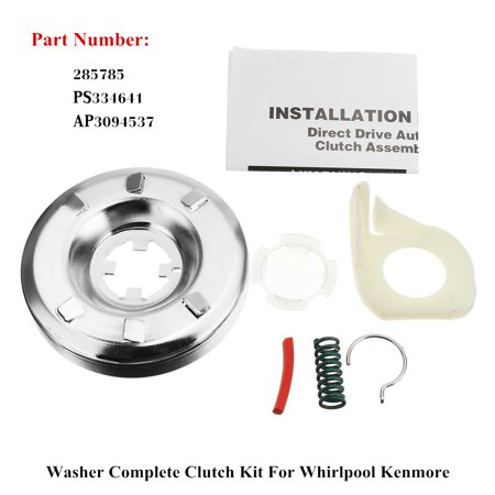 285785 Washer Washing Machine Transmission Clutch Assembly For Whirlpool Kenmore ()