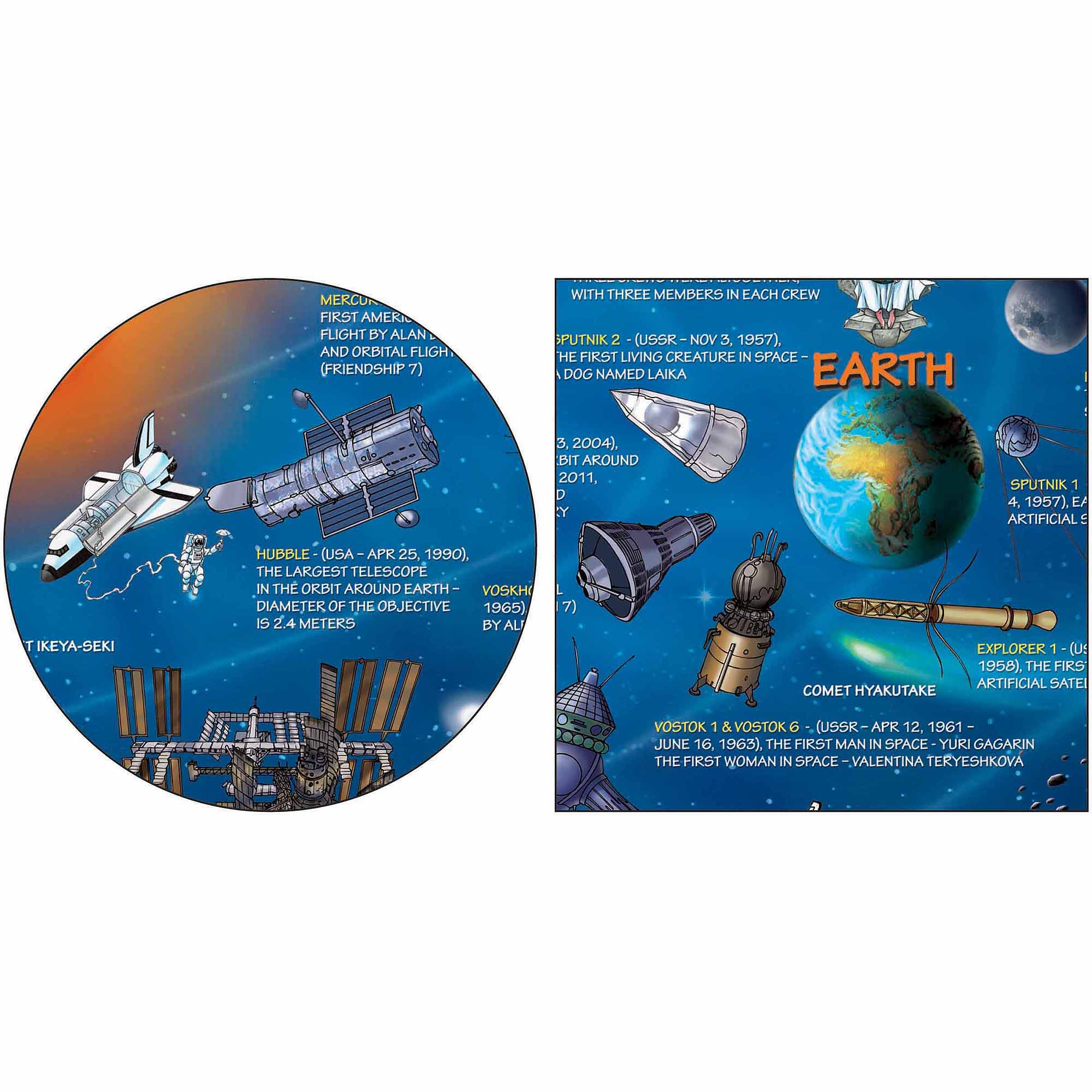 Dino's Solar System Map 500-Piece Jigsaw Puzzle by Distribution Solutions LLC