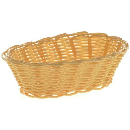 HUBERT Bread Basket Oval Natural Wicker - 7