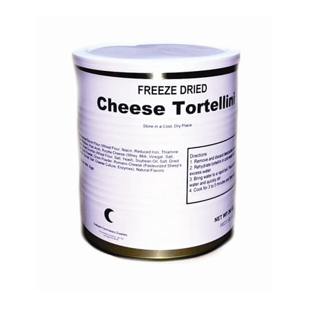 Military Surplus Freeze Dried Cheese Tortellini # 10 Can