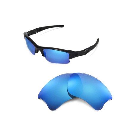 fbc45e642af Walleva - Walleva Ice Blue ISARC Polarized Replacement Lenses for Oakley  Flak Jacket XLJ Sunglasses - Walmart.com