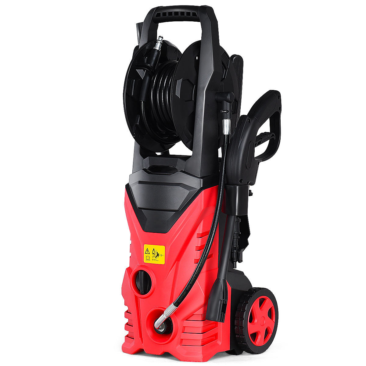 Costway 2030PSI Electric Pressure Washer Cleaner 1.7 GPM 1800W with Hose Reel Red by Costway