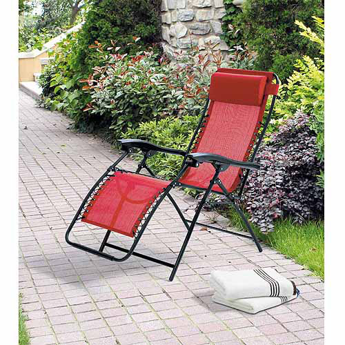 Elegant Mainstays Ms Bungee Lounge Chair Red
