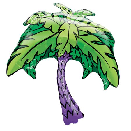 "XL 33"" Palm Tree Super Shape Mylar Foil Balloon Tropical Luau Party Decoration"