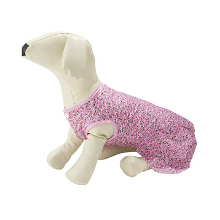 CUECUEPET Cute Pink Floral Casual Everyday Dress for Female / Girl Dogs and Puppies [Multiple Sizes Available] Pink Dog Dress