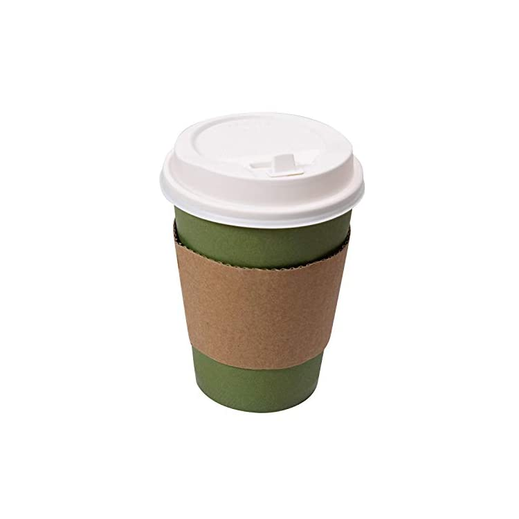 12 Ounce Disposable Coffee Cups with Lids and Sleeves ...