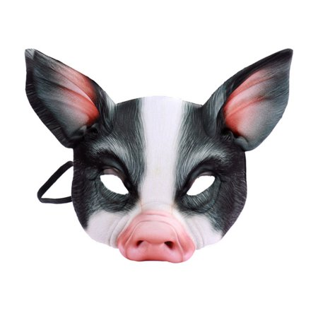Love Food Festival Halloween Special (Fymall Halloween Party Novelty Animal Mask Pig Head All Face Mask For Festival)