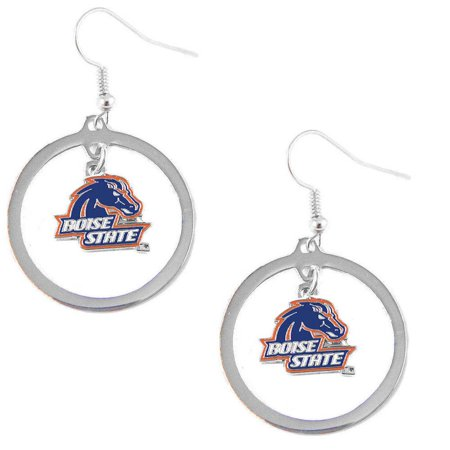 Boise State Broncos Hoop Sports Team Logo Earring Set NCAA Charm