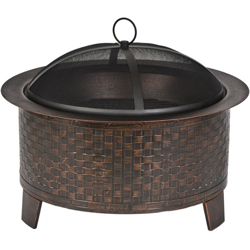 CobraCo Woven Base Cast Iron Fire Bowl