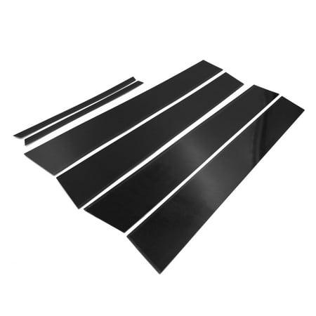 6pcs Pillar Post Cover Trim Car Center Window Decorative Strip PC Black for Toyota Corolla 2014-2018