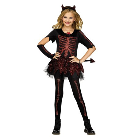 Devilish Girls Child Devil Costume](Devilish Eggs Halloween)