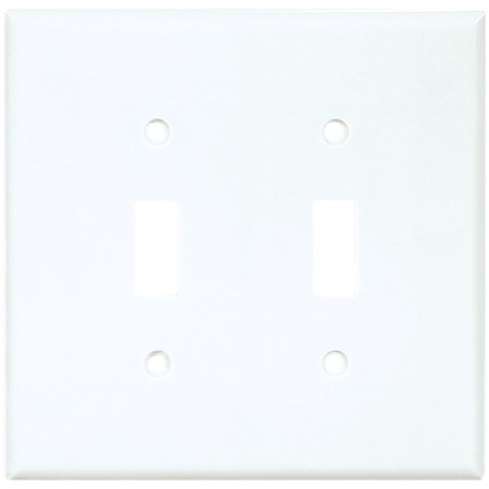 Gang Cooper Wall Plate (Cooper 2039W White Two Gang Toggle Light Switch Wall Plate )