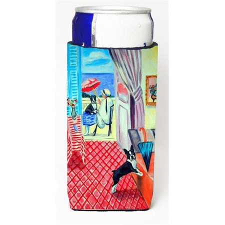 Lady With Her Boston Terrier Michelob Ultra bottle sleeves For Slim Cans - 12 oz. - image 1 de 1