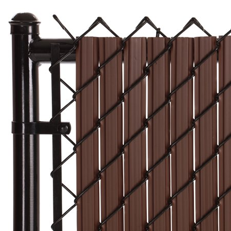 Maximum Privacy Brown SoliTube Slats™ for 6ft Chain Link Fence