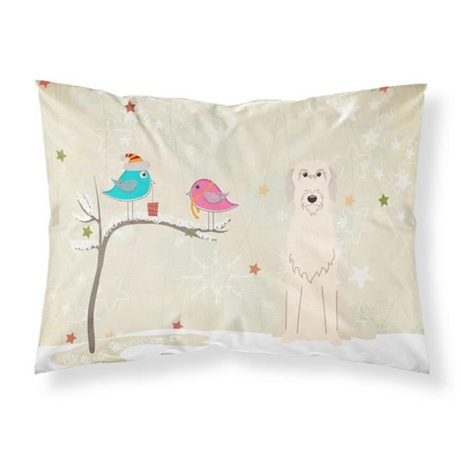 Christmas Presents Between Friends Irish Wolfhound Fabric Standard Pillowcase, 20.5 x 0.25 x 30 in. - image 1 de 1
