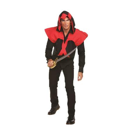 PIRATE ASSASSIN ADULT MENS VEST WITH HOOD](Mens Pirate Vest)