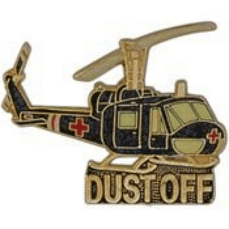 Metal Lapel Pin - Aircraft Large Helicopter Pin - UH-1 Huey