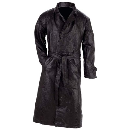 The buttery soft feel of this Giovanni Navarre Italian Stone Design Genuine Leather Trench GFTRXXL