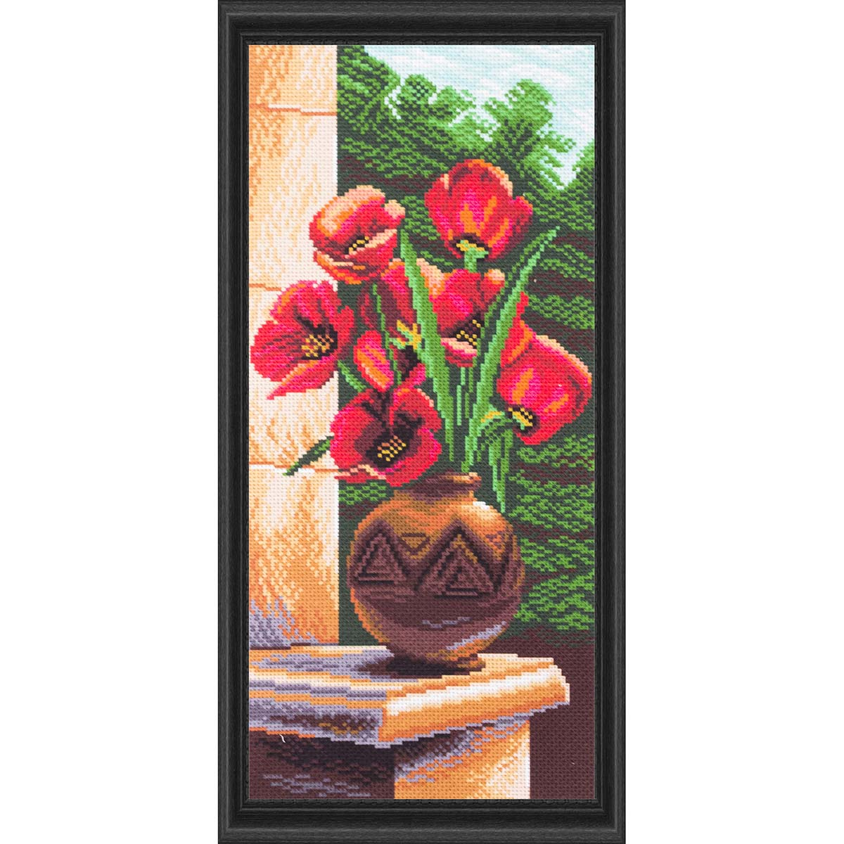 Collection D'Art Beautiful Tulips Stamped Cross-Stitch Kit