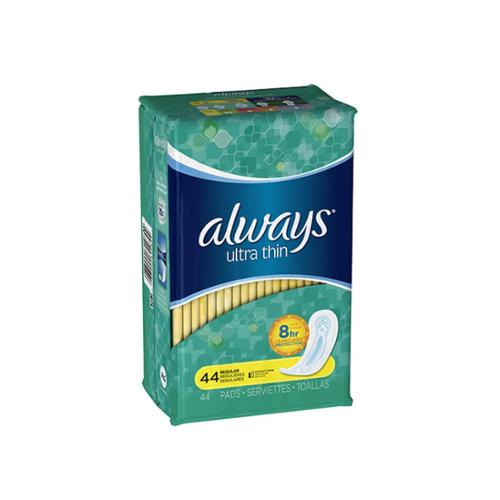 Always Ultra Thin Pads Regular 44 Each (Pack of 3)