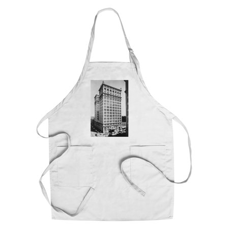 Spokane  Wa View Of Old National Bank Building Photograph  Cotton Polyester Chefs Apron