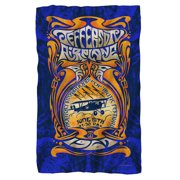 Jefferson Airplane Monterey Pop Fleece Blanket White 48X80