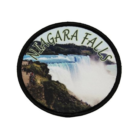 Niagara Falls Patch Travel Horse Shoe Travel Badge Embroidered Iron On