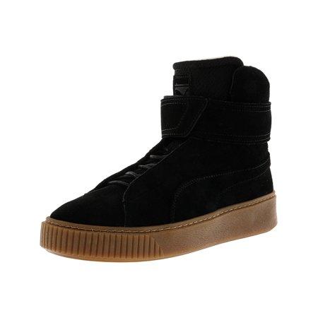 Puma Women's Platform Mid Ow Black / High-Top Fashion Sneaker - 6M