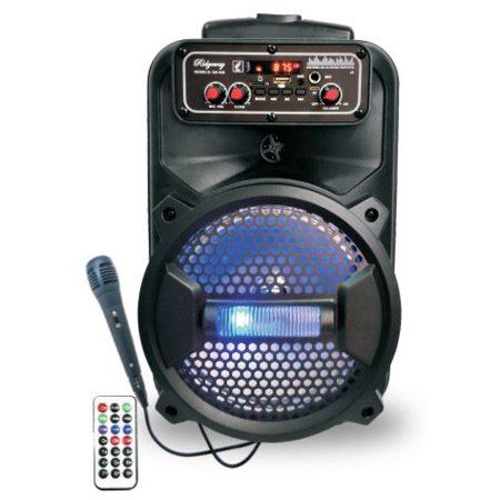 "Ridgeway QS-10 10"" BT PA Speaker Trolley Speaker with Lights USB"