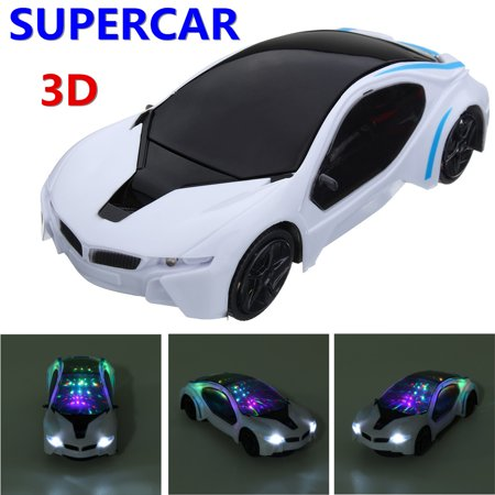 Funny Flashing Music Racing Car Sports Car Toy Electric Automatic Toy Birthday Gift For Boy Kid Led Sports Car (Funny Race Car)