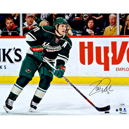 "Zach Parise Minnesota Wild Autographed 16"" x 20"" Skating With Puck Photograph Steiner Sports No Size by Fanatics Authentic"