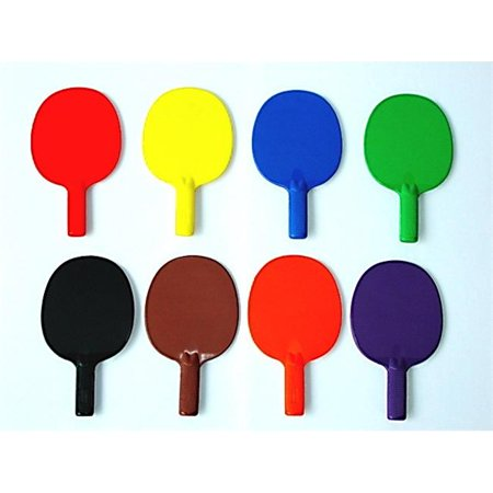 Paddle Set - Everrich EVB-0056 Plastic Ping Pong Paddle- Set of 6 Colors