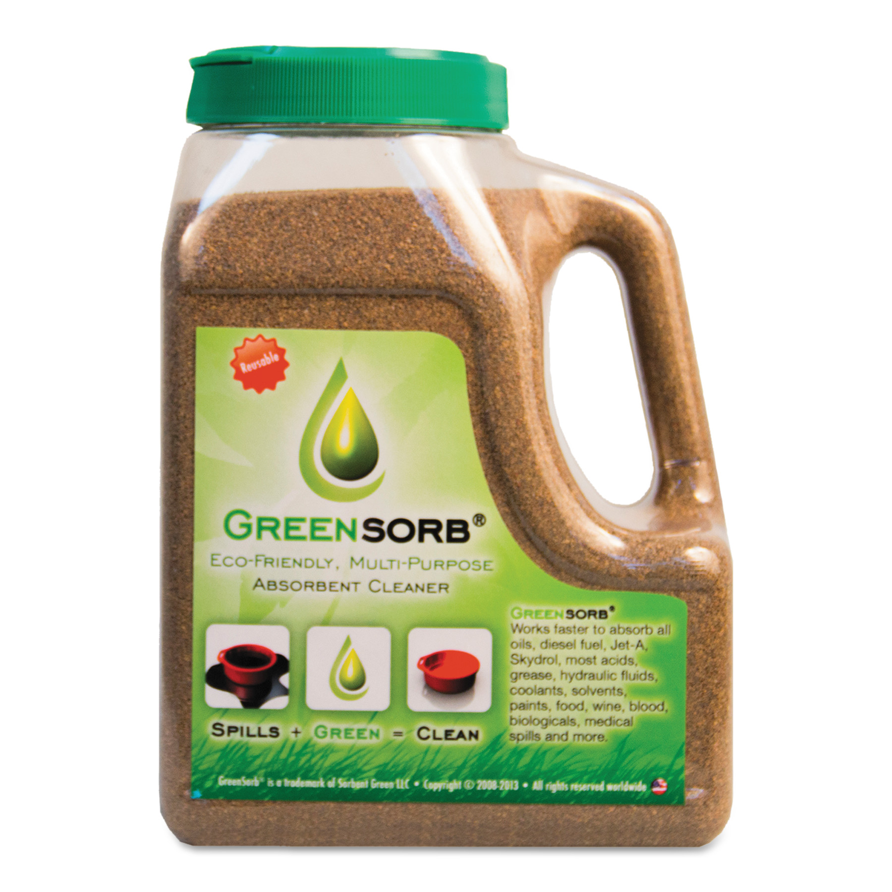 GreenSorb Eco-Friendly Sorbent, Clay, 4 lb Shaker Bottle -BCGGS4