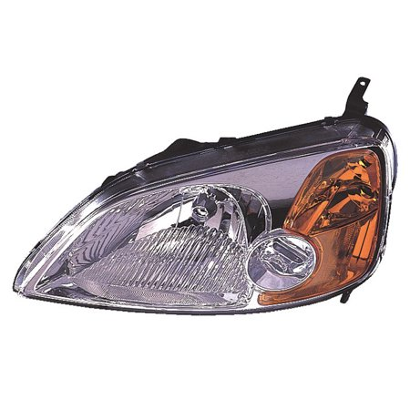Replacement Driver And Passenger Side Headlight For 01-05 Honda Civic